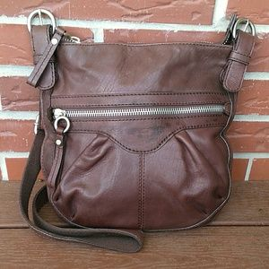 🗝Fossil Vintage Chocolate Leather Crossbody